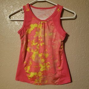 4/$25 Pink and Yellow Skechers Active Tank sz 7/8